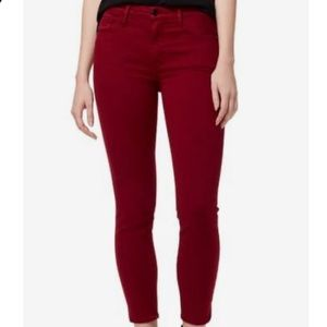 Style&Co deep red skinny jeans